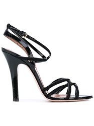 Red Valentino Strapped Sandals Women Leather 38.5 Black