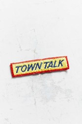 Urban Outfitters Vintage Town Talk Patch Yellow