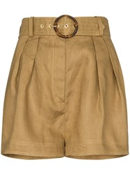 Zimmermann Belted Box Pleated Shorts 60