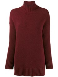 Pringle Of Scotland Roll Neck Sweater Red
