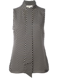 Michael Michael Kors Dots Print Sleeveless Blouse Black