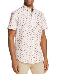 Sovereign Code Crystal Cove Watermelon Short Sleeve Button Down Shirt Off White Watermelon