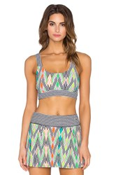 Trina Turk Neon Lights Sports Bra Black