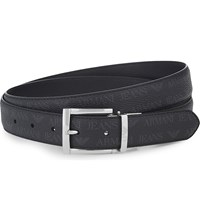 Armani Jeans Grained Leather Reversible Belt Black