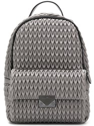 Emporio Armani Quilted Drop Backpack Grey