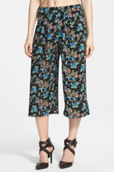 Hip Textured Culottes Juniors Black