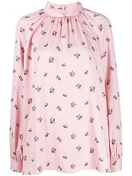 Mulberry Hettie Floral Print Blouse Pink
