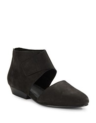Eileen Fisher Calia Nubuck Leather Cutout Booties Black