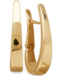 Macy's Polished Gradual Oval Hoop Earrings In 14K Gold Yellow Gold