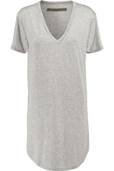 Enza Costa Jersey Mini Dress Gray
