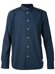 Wood Wood Basic Shirt Blue