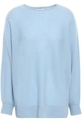 Charli Woman Cadee Two Tone Cashmere Sweater Sky Blue