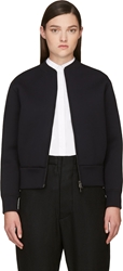 Neil Barrett Black Neoprene Bomber Jacket