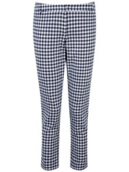 Pure Collection Hayleigh Capri Trousers Navy Gingham