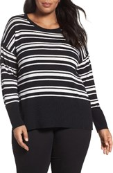 Sejour Plus Size Women's Cotton Blend Scoop Neck Sweater
