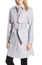 Ted Baker London Scallop Detail Trench Coat Grey
