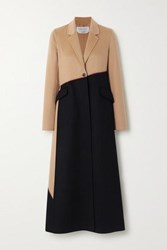 Gabriela Hearst Hamill Whipstitched Two Tone Cashmere Coat Camel