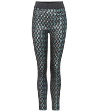 Dolce And Gabbana Lame High Waisted Leggings Multicoloured
