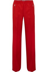 Prada Gabardine Track Pants Red