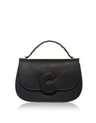 Coccinelle Handbags Craquante Rock Leather And Suede Satchel Bag W Studded Handle