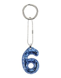 Maison Martin Margiela Mm6 By Maison Margiela Small Leather Goods Key Rings Women Blue