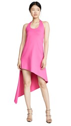 Susana Monaco Spiral Halter Dress Punch Pink