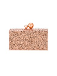 Sophia Webster Studded Box Clutch Metallic