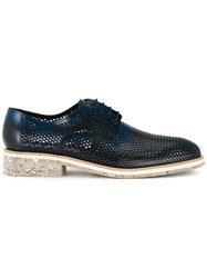 Diego Vanassibara Perforated Oxford Shoes Blue