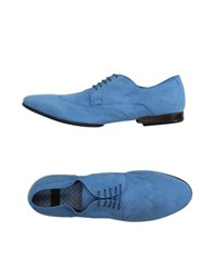 Raparo Footwear Lace Up Shoes Men Sky Blue