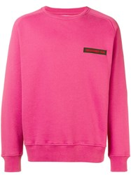 Department 5 Logo Embroidered Sweatshirt Pink And Purple