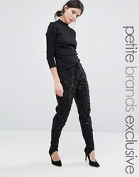 Starry Eyed Petite Joggers With All Over Heavy Embellishment Black