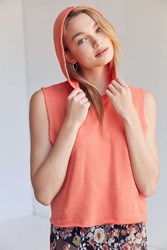 Truly Madly Deeply Muscle Hoodie Orange