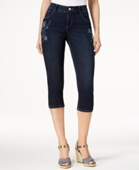 Lee Platinum Petite Embroidered Cropped Stretch Jeans Persian