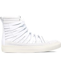 Damir Doma Falco Leather High Top Trainers Winter Wht