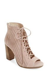 Vince Camuto Women's Kevina Lace Up Open Toe Bootie