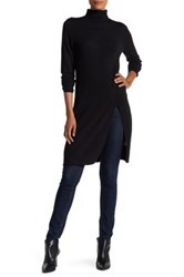 Cullen Double Knit High Slit Tunic Black