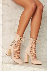 Sylvia Embroidered Lace Up Heel 70070