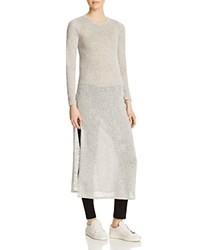 Leibl '38 Long Sleeve Maxi Tee Compare At 78 Light Grey
