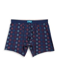 Original Penguin Logo Print Boxer Briefs Blue
