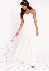 Missguided Bridal Bandeau Maxi Dress White