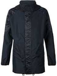 Julien David Hooded Coat Blue