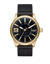 Diesel Nsbb Goldtone Stainless Steel And Leather Strap Watch No Color