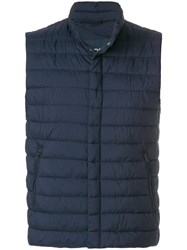Herno Quilted Gilet Polyamide Polyurethane Polyester Blue