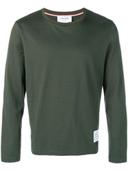 Thom Browne Relaxed Jersey Tee Green