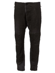Lost And Found Panelled Regular Trousers Black