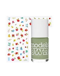 Models Own Sticky Fingers Polish And Stickers Pastel Petals Green Pastelpetalsgreen