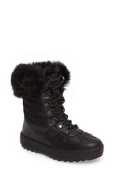 Cougar Women's Viper Waterproof Snow Boot With Faux Fur Trim Black All Over