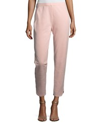 Joan Vass Ankle Pants W Notch Detail Petite Blossom Pink