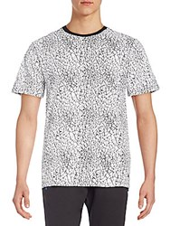 Eleven Paris Gatrik Crackle Print Tee White
