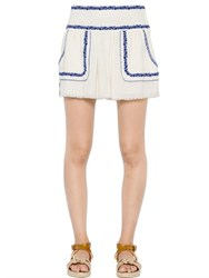 Etoile Isabel Marant Embroidered Cotton Gauze Skirt
